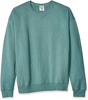 Hanes Men s Comfortwash Garment Dyed Sweatshirt Cypress Green X Large