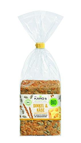Dr. Karg BIO Dinkel Käse-Sonnenblumenkerne Feinschmecker-Knäckebrot, 5er Pack (5 x 200 g Beutel) - Bio