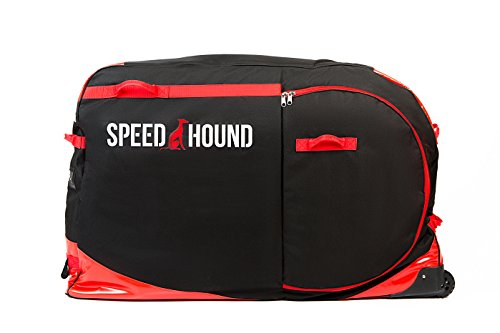 Speed Hound Freedom Road and Mountain Bike Travel Bag/Case (Black/Red)