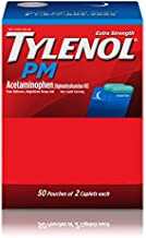 Tylenol PM Extra Strength, 50 Pouches of 2 Caplets, Dispenser Box (Pack of 2)