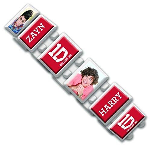 Oficial One Direction (1D) pulsera expandible (blanco)