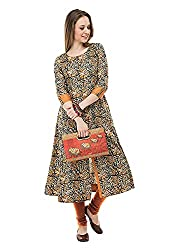 AnjuShree Choice Women Stitched Printed Cotton Kurti