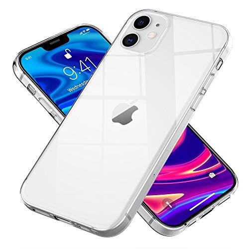Kaliroo Klare Handyhülle kompatibel mit iPhone 12   iPhone 12 PRO Hülle, Transparente Silikon Schutzhülle Crystal Clear Hülle Durchsichtig, Ultra-Slim Phone Cover Handy-Tasche Soft Bumper Schale Dünn