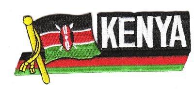 Sidekick Aufnäher Patch Kenia Fahne Flagge NEU