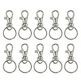 VORCOOL 20 Sätze von Swivel Karabiner Haken mit Schlüsselanhänger Schlüsselanhänger