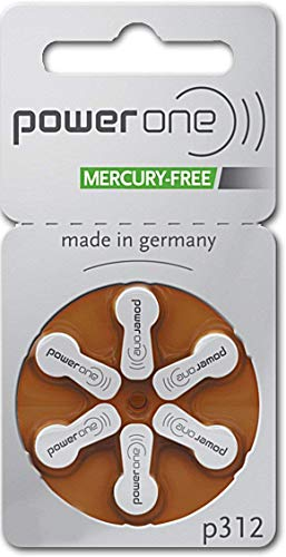 Power One Size 312 Mercury Free Hearing Aid Batteries (2 Pack (60 Batteries))