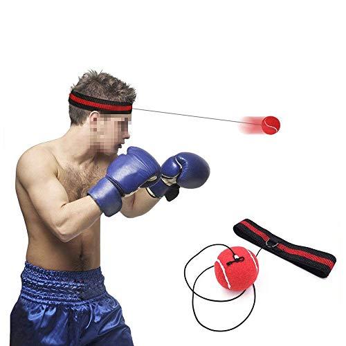 Wolike - Pelota de boxeo con cinta para la cabeza para