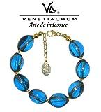 Venetiaurum - Brazalete en cristal de Murano y plata 925 Made in Italy