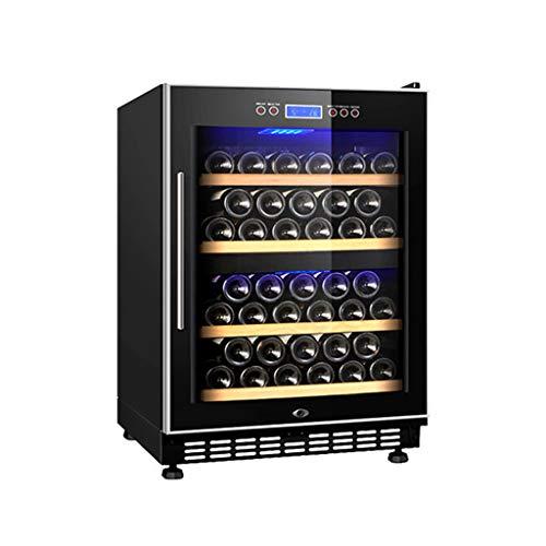 hanzeni Refroidisseur De Vin Réfrigérateur - Refroidisseur De Bouteilles De Vin À Compresseur - Deux Zones De Température - Fonction De Mémoire
