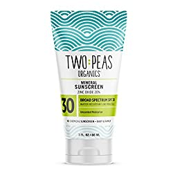 Two Peas Organics SPF 30 Mineral Sunscreen, natural and reef safe
