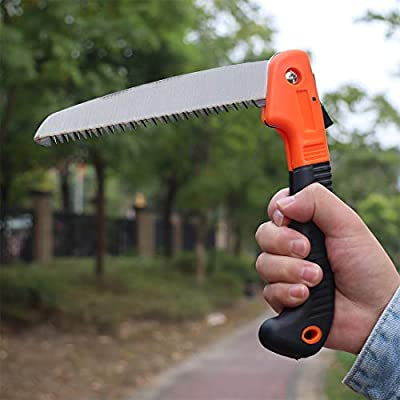"""Folding Hand Saw for Tree Pruning - 6.7"""" blade Folding Pruning Saws for Camping, Trimming, Sawing, Hiking, Hunting & Cutting Wood, Drywall, Bone"""