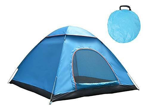 Paomo 2 Personen Pop Up Zelt, Instant Beach Camping Zelte, Portable | Leicht | Wasserabweisend | UV Sonnenschutz Schattenzelt | Kompakte Tragetasche inklusive, 200x140x110cm Blau
