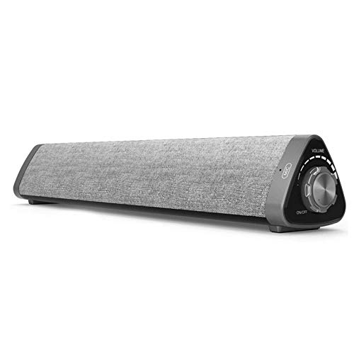 Soundbar, ASIYUN Wired & Wireless Bluetooth 5.0 Stereo Sound Bar Home Theater Audio Speaker for Cell Phone/Tablet/Projector and Support TV with AUX/RCA Output (Remote Control Included)
