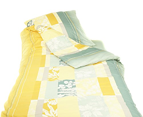 APRICASA glatt gewebt Bettwäsche QVC Blättermeer Einzelbett, 3tlg. 835294SJ935