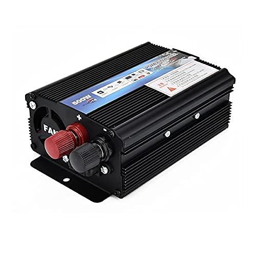 Wdszb Inversor de Coche 500 W inversor de Coche 12v 220v 50Hz inversor automático 1220 Cargador convertidor de Potencia inversor con Ventilador de refrigeración 347
