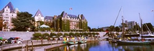 Posterazzi PPI147374S Buildings at the waterfront Empress Hotel Inner Harbor Victoria Vancouver Island British Columbia Canada Poster Print 18 x 6