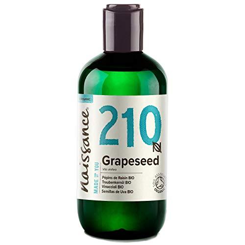 Naissance Semillas de Uva BIO - Aceite Vegetal Prensado en Frío 100% Puro - Certificado Ecológico - 250ml