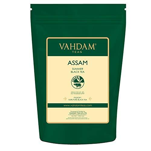 Hojas de té negro Assam (más de 200 tazas), FUERTE, MALTY Y RICO, Té de hojas sueltas,...