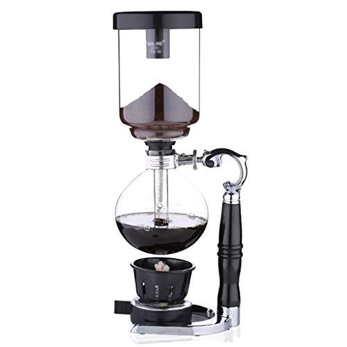 PXX Manual Coffee Grinder -Siphon Cafetera Conjunto Sifón Curvo Jarra de Cristal 2/3/5 Ventosas Máquinas de Café),15 * 33.9Cm (2 Tazas),15 * 33.9Cm (2 Tazas)