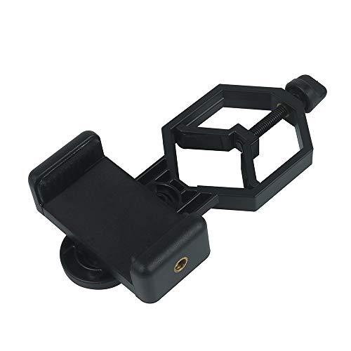 YELLAYBY Telescopio de plástico Universal Soporte de Adaptador de teléfono Inteligente para Manchas monoculares binoculares Ámbito de alceno Telescopi Observación Naturaleza