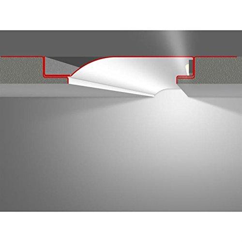 LED Profil Putzprofil Profil R10-F mit Reflektor-Sichtschenkel (Länge: 2m)