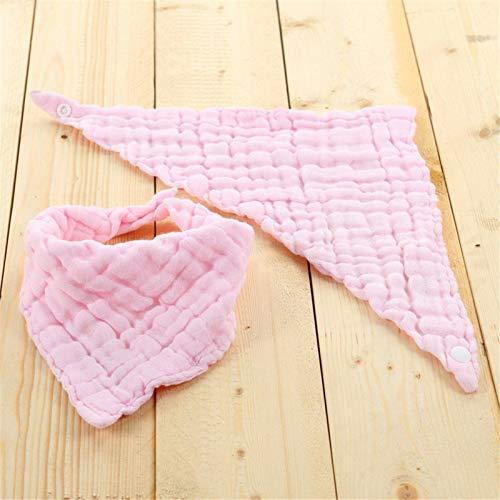 Nikula Baberos para Bebés con Seis Capas Baberos Plegables Triangulares De Algodón Puro para Lavar cool