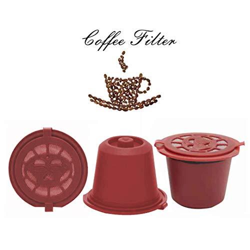 3pcs Cápsulas Reutilizables Nespresso Filtros Reutilizables para Café Capsulas Rellenables para Nespresso Máquinas de Café Nespresso