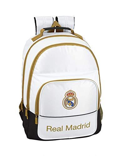 Real Madrid niños Equipaje, Blanco, Dorado, Talla Única