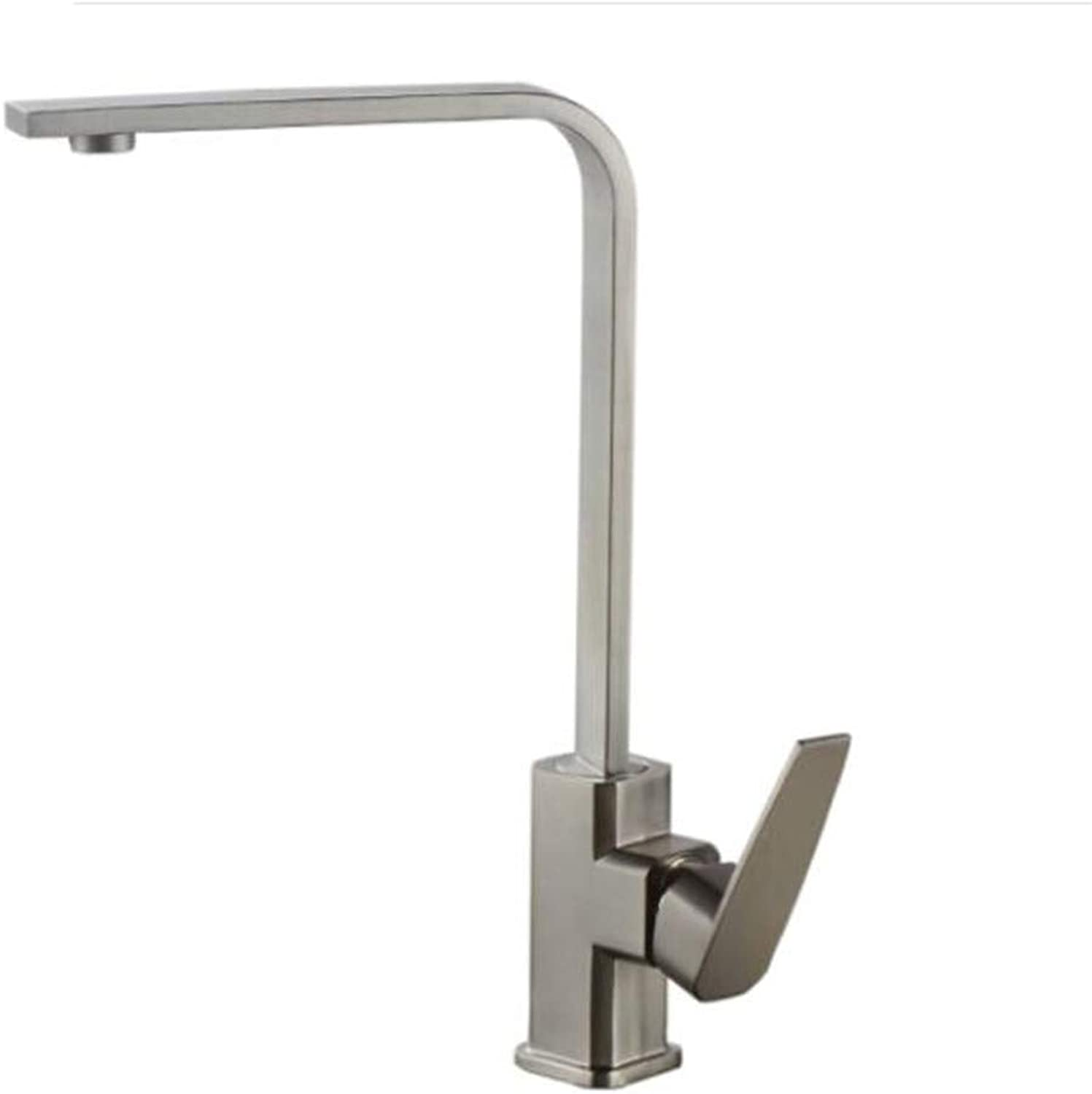 Bathroom Sink Basin Lever Mixer Tap redating Single Hole Cold and Hot Kitchen Sink Dish Pot Tap Wire Drawing Copper Section