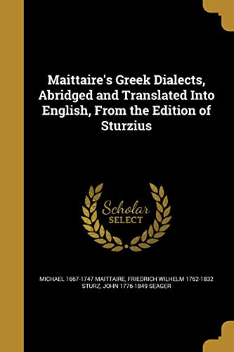MAITTAIRES GREEK DIALECTS ABRI
