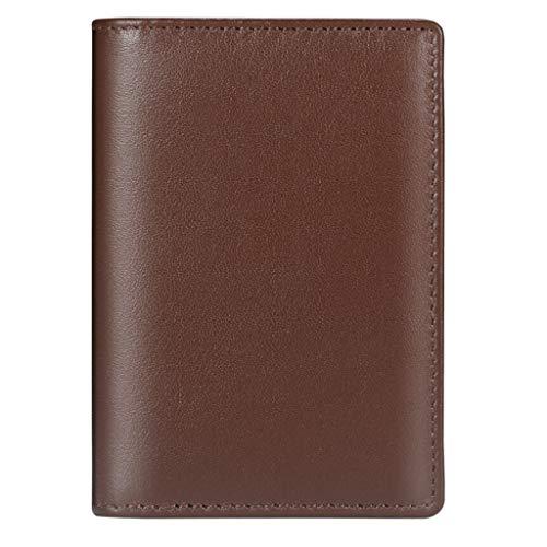 BHJqsy Titular de la Tarjeta de Negocios, Suave Tarjeta de Crédito Negro/Titular Travel Pass/Oyster ID (Color : Brown)