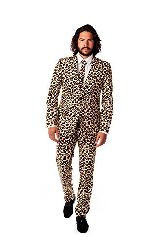 Opposuits UK 44/ EU 54 The Jag Leopard Suit Size Fancy Dress/ Costume by OppoSuits(TM)