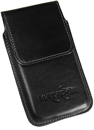 MATADOR kompatibel mit iPhone 6 / 6s / SE 2020 Ledertasche Echt Leder Hülle Case Magnet Clip Schlaufe Schwarz