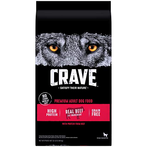 CRAVE Grain Free Adult High Protein Natural Dry Dog Food with...