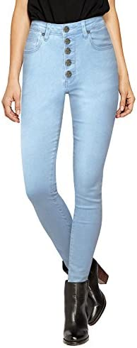 Hybrid Company Womens Super Stretch 5 Button Hi Waist Skinny Jeans P43250SK Light WASH 9 product image
