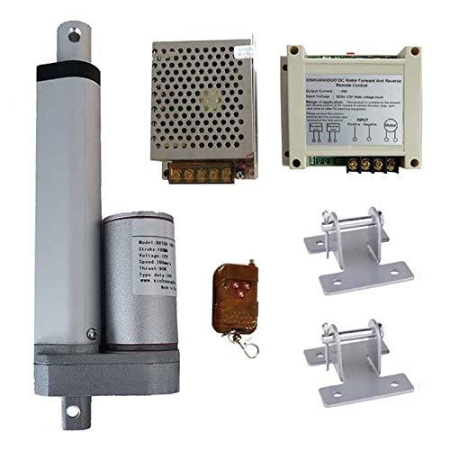 QBLDX Actuador Lineal Eléctrico 12V con Soporte De Fuente De Alimentación De Control Remoto Stroke 25mm/50mm/75mm/100mm/150mm para La Ventana De La Puerta del Garaje(Size:25mm,Color:200N(30MM/S))
