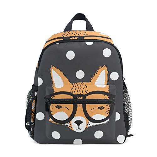 Kinderrucksack Brille Fuchs Mit Punkt Kindergarten Vorschule Tasche für Kleinkind Mädchen Jungen