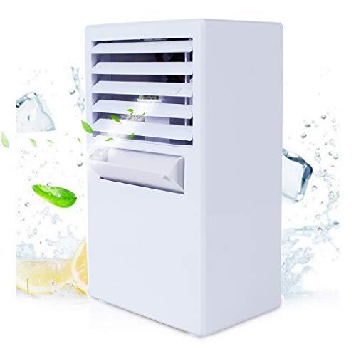 ACMEDE Climatizzatore Condizionatore Portatile, Mini Raffrescatore Evaporativo Umidificatore a Ventaglio Climatizzatore con Raffreddamento ad Acqua per Casa Ufficio Camper, 14.5 * 10 * 24,3cm