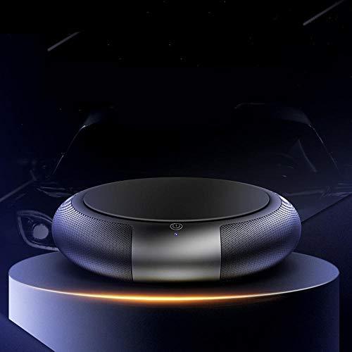 XKMY Interior Accessories 3D Stereo Vortex Purificador de aire para aromaterapia de iones negativos PM2.5 eliminador de olores de humo (color: negro)