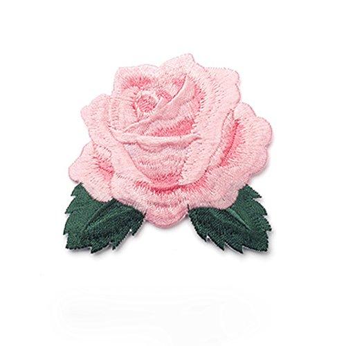 Love May DIY Ropa Pegatinas Color Rosa Rose Cordones Parches Pegatinas bügelflicken Costura Pegatinas para Camiseta de Vestido Vaqueros Chaqueta Sombrero Guantes