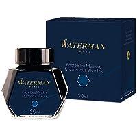 Waterman - Tinta para pluma estilográfica, azul misterioso, frasco de 50ml