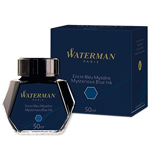 Waterman Flacon d Encre pour Stylo-plume Bleu Noir