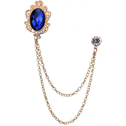 Betyg Stickmärke Smycken Brosche Kappa brosch för män Tillbehör till män Gemstone brosche Kristall brosche Silver brosa Diamantbrosa blue