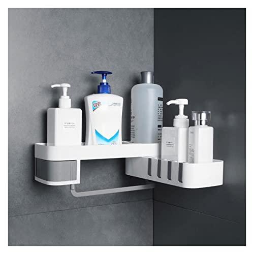Soportes de baño Cuarto de depósito creativo del baño Divisor de baño, estantería de ducha de esquina for el hogar trípode giratorio sin fisuras, accesorios de baño multifunción Organizador de baño