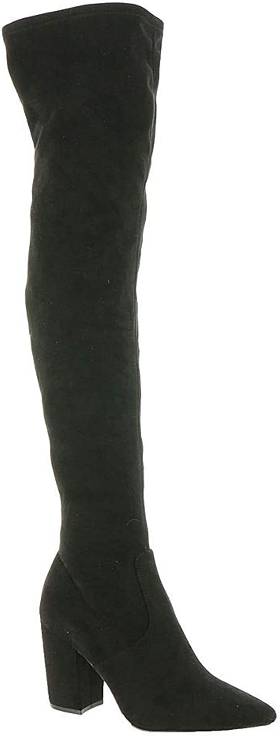 Steve Madden Womens Rational Pointed Toe Over Knee Fashion Boots