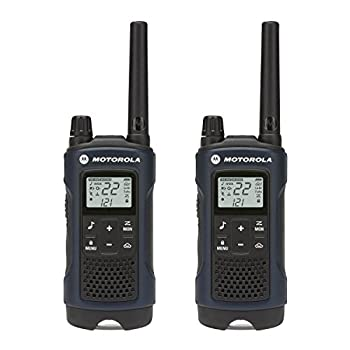 MOTOROLA SOLUTIONS Talkabout T460 Rechargeable Two-Way Radio Pair  Dark Blue