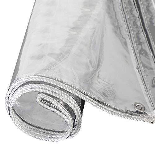 ZKORN Transparente Lonas Impermeables Ojales, Exterior Lona De Protección Tarea Pesada PVC Vidrio Suave Resistente, Resistente Al Frío y a Las Heladas, 0,5 Mm De Espesor(1 * 1.5m(3.3 * 4.9ft))