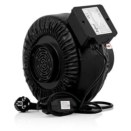 Zelsius elektrischer Rohrlüfter | 345 m³/h Grow Tent | Ø 100 mm | Radialventilator, Grow Lüfter, Growbox Lüfter, Grow Abluft | Ideal für Growzelte, Anzuchtzelte, Hydroponik
