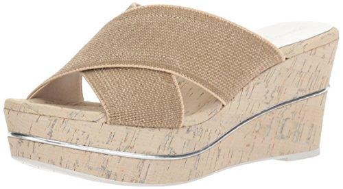 Donald J Pliner Women's Dani2 Platform Sandal, Natural, 9.5 M US