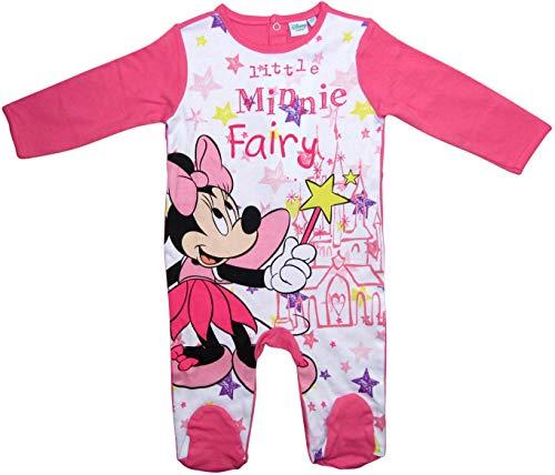 Minnie Mouse Strampelanzug Strampler Disney Lang Mädchen (Darkrosa, 80-86)